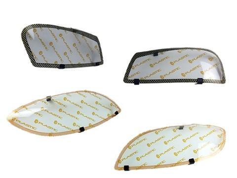 Защита фар Toyota Caldina T210-T215 1997-2000 СА Пластик - фото 21269