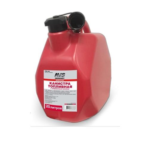 Канистра топливная пластик.20л.(красная) AVS MTK-20 - фото 23475
