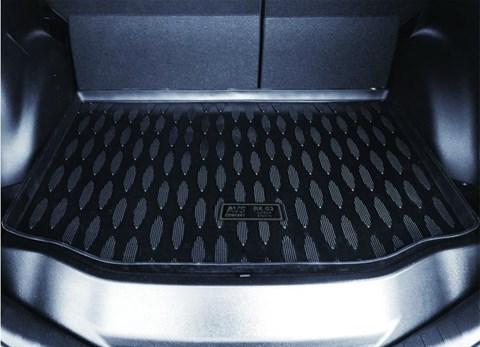 """Ковёр в багажник(полиуретан) Skoda Rapid (2013-)(без """"ушей"""")AVS BK-19 - фото 23536"""