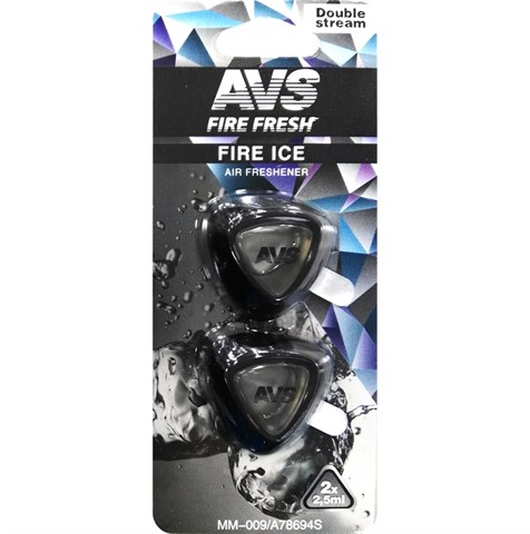 Ароматизатор AVS MM-009 Double Stream (аром. Fire Ice/Чёрный лёд) (мини мембрана) - фото 23728