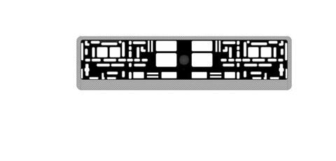 Рамка под номерной знак карбон (светлый)AVS RN-05 - фото 23884