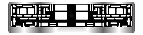 Рамка под номерной знак хром AVS RN-12 - фото 23885