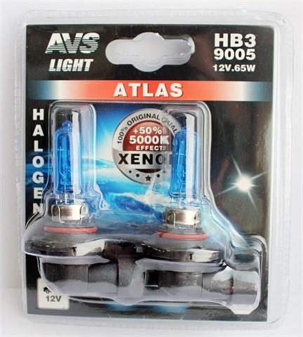 Лампа автомобильная галогенная AVS Atlas HB3 12V 60W 2шт. - фото 23911
