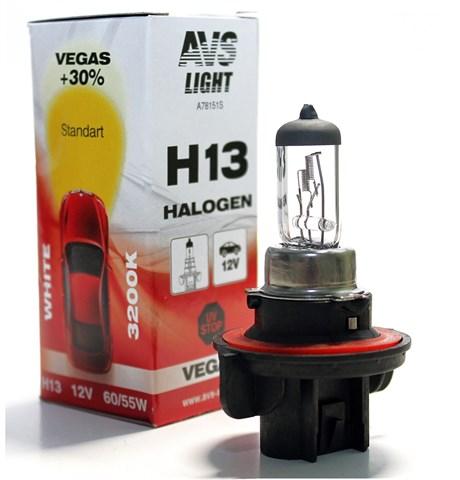 Автолампа галогенная AVS Vegas H13 12V 60/55W 1шт. - фото 24040