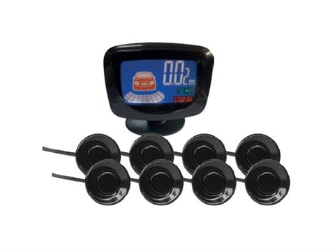 Парктроник PS-528 (8 датчика+коннекторы, цветной LCD-Дисплей) - фото 24746