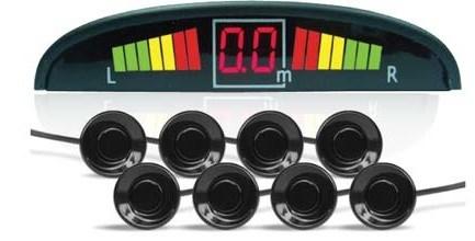 Парктроник PS-128U (8 датчиков+коннекторы, цветной светодиодный дисплей с цифровым табло) - фото 24749