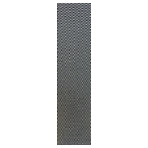 Сетка алюминиевая в бампер 100х25 см ромб мелкая ячейка черная - фото 30468