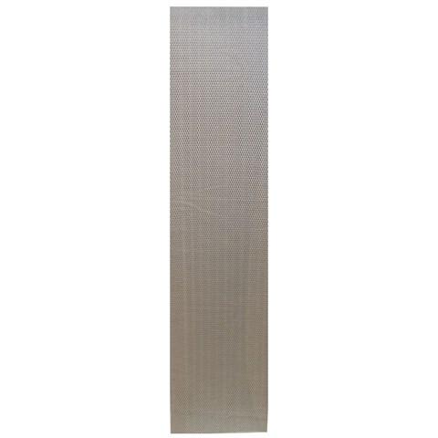 Сетка алюминиевая в бампер 100х25 см ромб мелкая ячейка серебристая - фото 30470