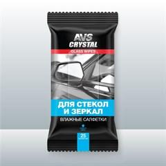 Влажные салфетки для cтекол и зеркал AVS AVK-200