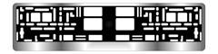 Рамка под номерной знак хром AVS RN-12