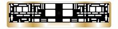 Рамка под номерной знак хром (золото)AVS RN-13