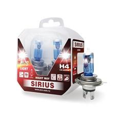 Лампа автомобильная галогенная AVS Sirius Night Way H4 12V 60/55W 2шт.