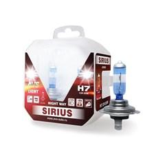 Лампа автомобильная галогенная AVS Sirius Night Way H7 12V 55W 2шт.