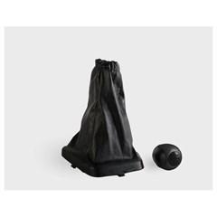 Ручка КПП из кожзама с рамкой Лада Калина черная