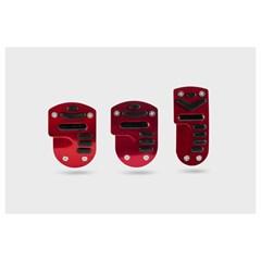 Накладки на педали AZARD 1045 черно-красные