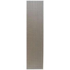 Сетка алюминиевая в бампер 100х25 см ромб средняя ячейка серебристая