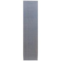 Сетка алюминиевая в бампер 100х25 см ромб средняя ячейка синяя