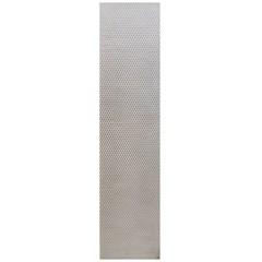 Сетка алюминиевая в бампер 100х25 см ромб средняя ячейка белая