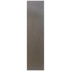 Сетка алюминиевая в бампер 100х25 см ромб крупная ячейка черная